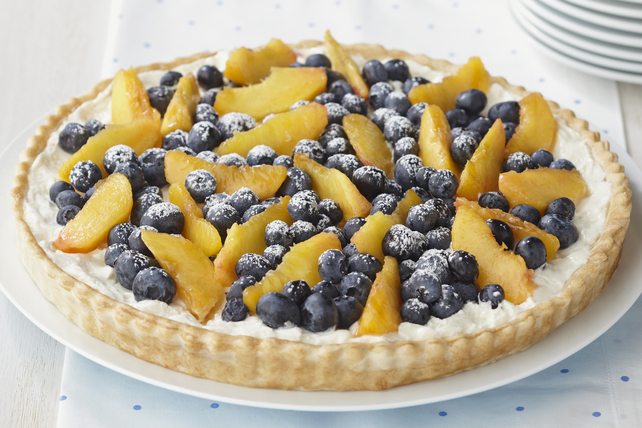 Gourmet Harvest International Recipe Of The Month – Blueberry & Peach Cream Tart From Kraft Foods
